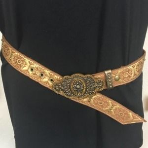 Cache Genuine Leather Boho Bling Belt Made in USA